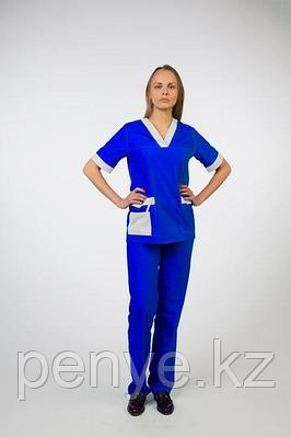 Униформа синяя с белой отделкой