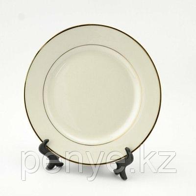 Тарелки белые под сублимацию золотом