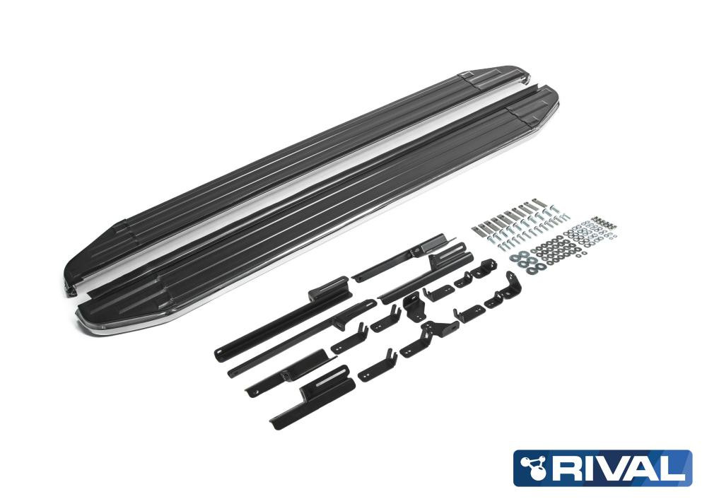 "Порог-площадка ""Premium"" A180ALP + комплект крепежа, RIVAL, Toyota Rav 4 2019-"
