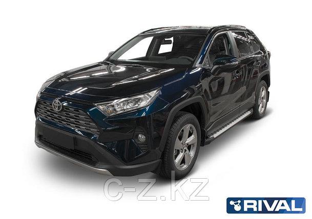 """Порог-площадка """"Bmw-Style"""" + комплект крепежа, RIVAL, Toyota Rav 4 2019-, фото 2"""