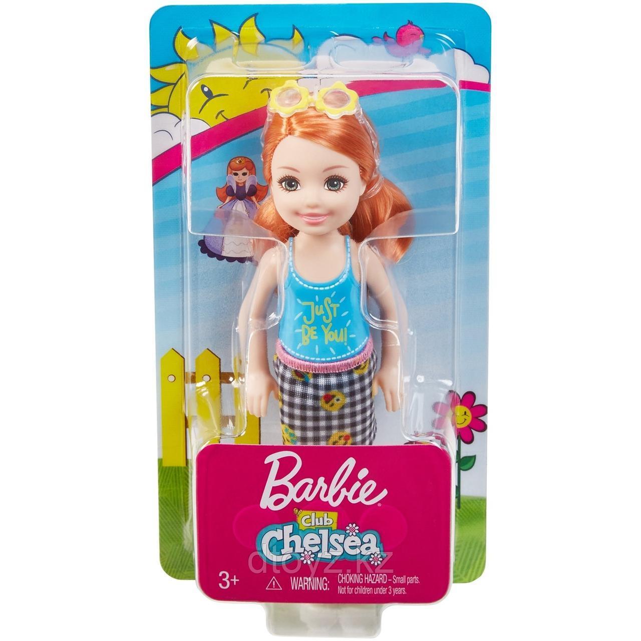 Barbie Челси Рыжеволосая в топе с надписью