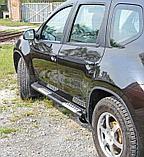 Пороги + комплект крепежа, RIVAL, Nissan Terrano 2014-2020, фото 3