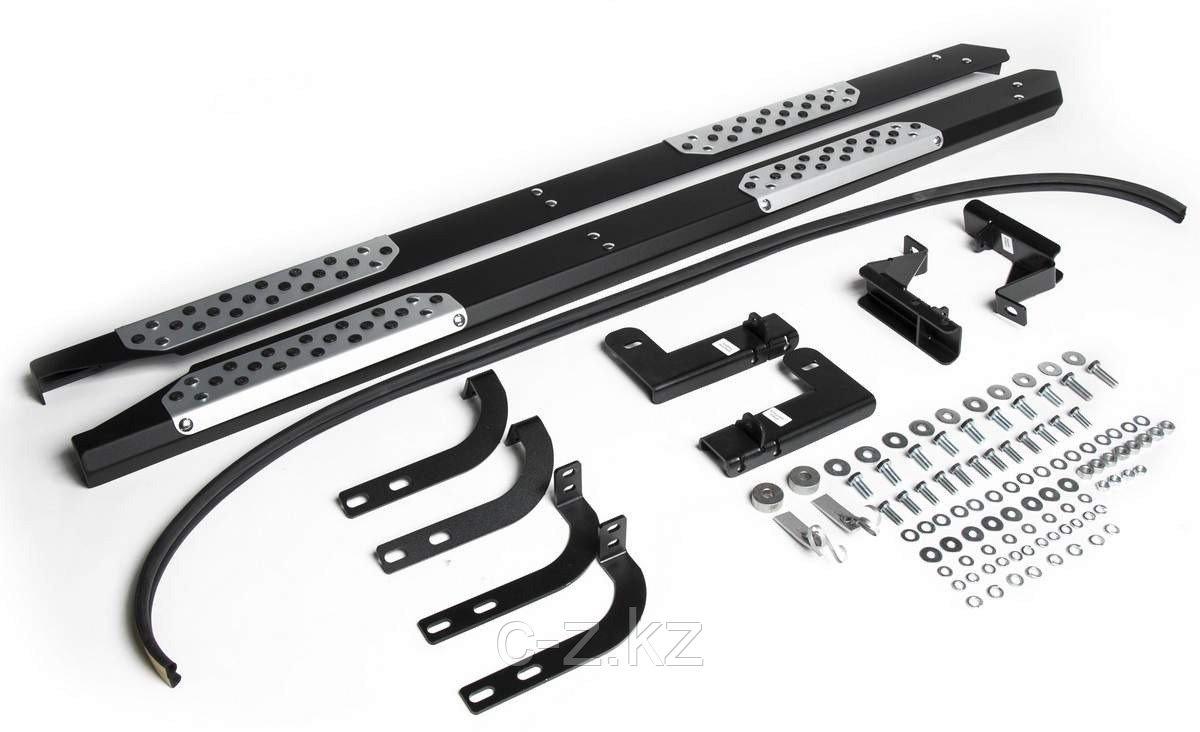 Пороги + комплект крепежа, RIVAL, Nissan Terrano 2014-2020