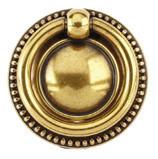 Ручка-кольцо, 'Louis XVI' D40мм, латунь пат., кругл. накл., винт, 12212Z04000.03