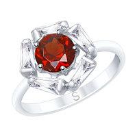 Серебряное кольцо с гранатом SOKOLOV 92011686