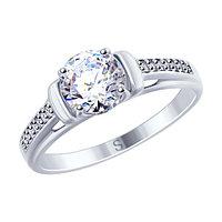 Серебряное кольцо с фианитом SOKOLOV 94012692