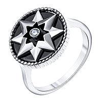 Серебряное кольцо с керамикой TEOSA ZCR-2287-BL