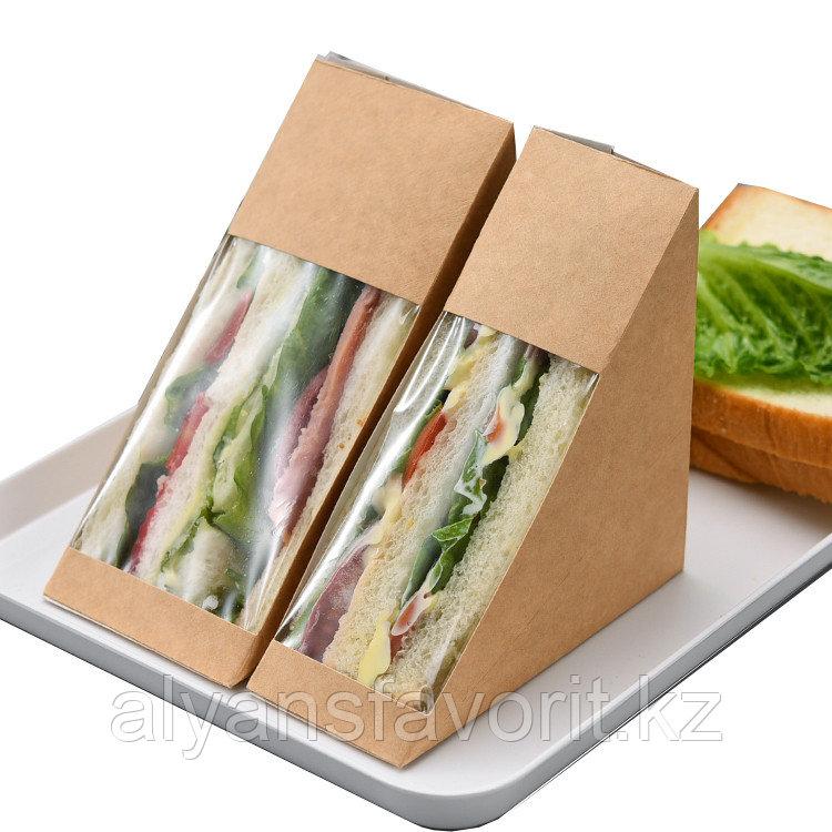 Упаковка для сендвичей ECO SANDWICH 40 мм, размер: 130*130*40 мм. РФ