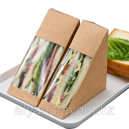 Упаковка для сендвичей ECO SANDWICH 40 мм, размер: 130*130*40 мм. РФ, фото 2