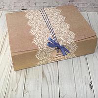 """Подарочная коробка """" Для вдохновения с голубой лентой """" 31 х 25 х 8 см"""