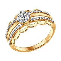 Кольцо из серебра с фианитом SOKOLOV 93010633