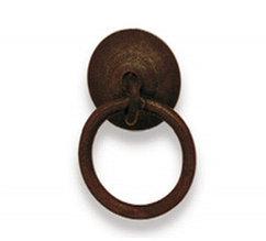 Ручка-кольцо, *Rustic Style* 40x55мм, ржавое железо