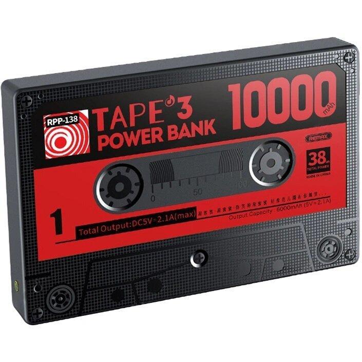 Power Bank Remax RPP-138 Tape 3 (10000mAh, Black)