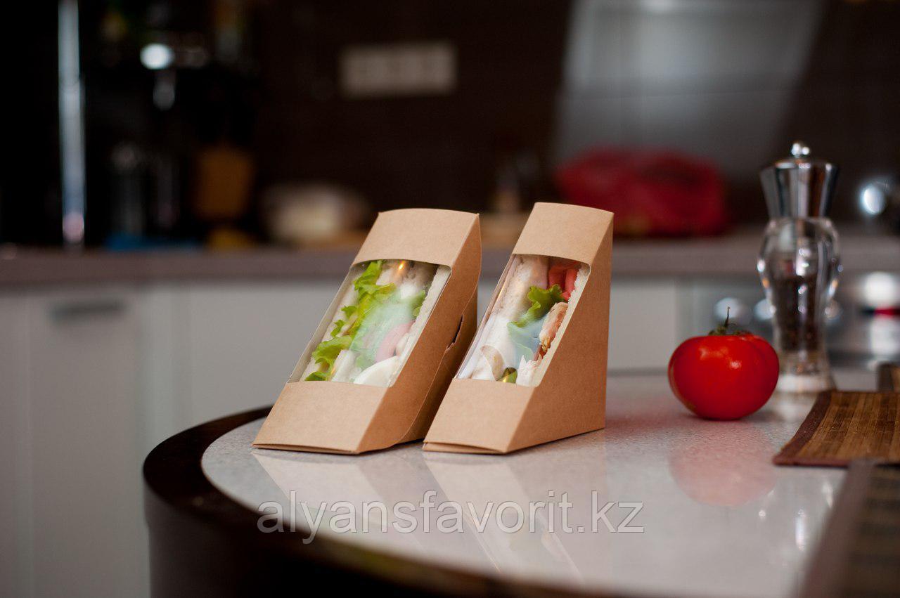 Упаковка для сендвичей ECO SANDWICH 50, размер: 130*130*50 мм. РФ
