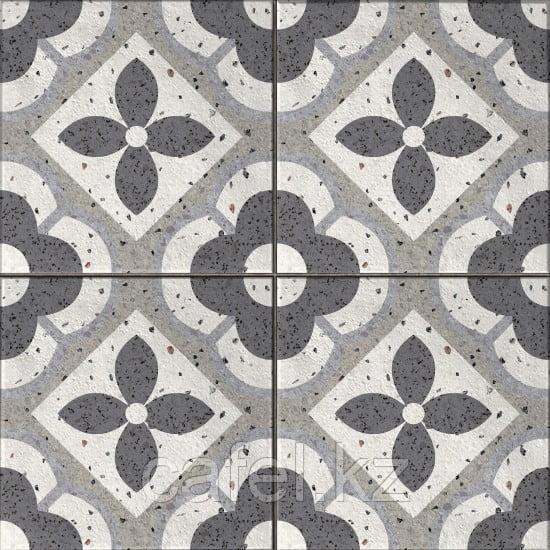 Керамогранит 42х42 - Севилья    Seville серый с узорами