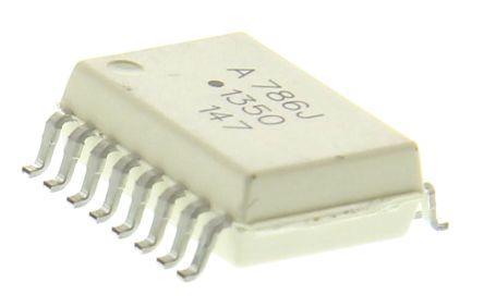 Микросхема HCPL-786J опрически изолированный Sigma-Delta модулятор, корпус 16 Lead Surface Mount Радиодетали.