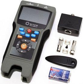Тестер кабеля 5bites LY-CT030 PRO многофункциональный для RJ11/12/45/BNC, TDR, LCD