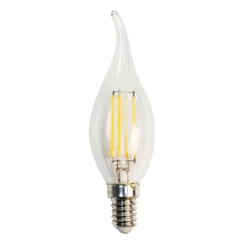 Лампа светодиодная филамент  (7W) 230V E14 2700K филамент C35T диммируемая прозрачная