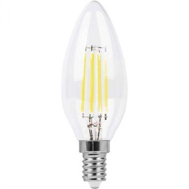 Лампа светодиодная филамент  (5W) 230V E14 2700K филамент C35 прозрачная