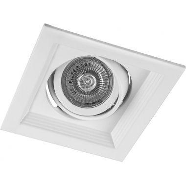 Светильник потолочный встраиваемый 1x50W MR16 G5.3 белый