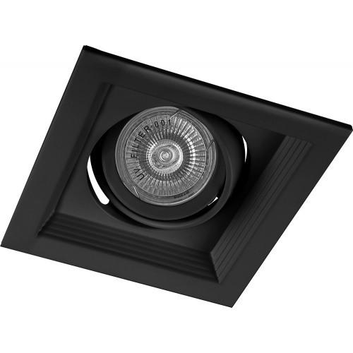 Светильник потолочный встраиваемый  1x50W MR16 G5.3 черный