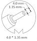 Блок питания для ноутбука Asus (Original), 19V 2.37A, 45W, 4.0x1.35 mm, фото 3