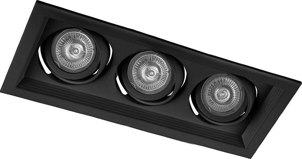 Светильник потолочный встраиваемый  3x50W MR16 G5.3 черный