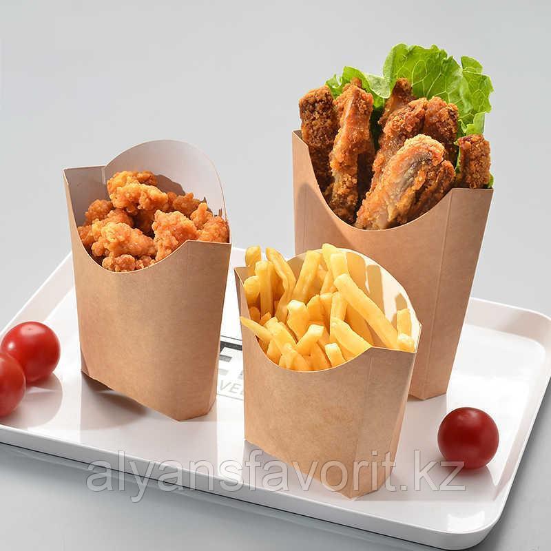Коробка для картофеля фри Eco Fry M, размер 50*100*120 мм. РФ