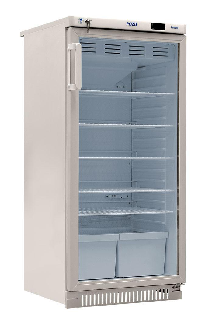 Фармацевтический холодильник со стеклянной дверью POZIS ХФ-250-3