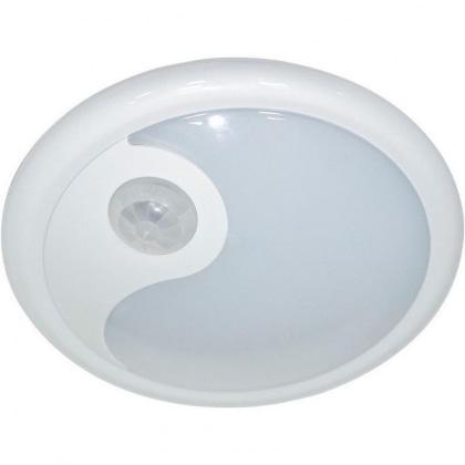 3W светильник с датчиком движения и освещенности 3м 120º, IP40, 115*115*45мм, белый