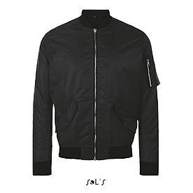 Куртка унисекс Rebel, черная, XXL