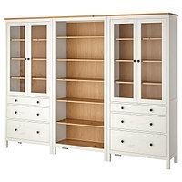Шкаф ХЕМНЭС белая морилка, светло-коричневый 270x197 см ИКЕА, IKEA