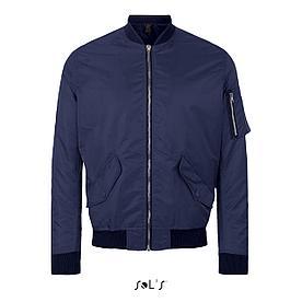 Куртка унисекс Rebel, темно-синяя, XL