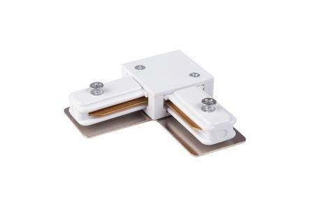 Коннектор угловой для встраиваемого шинопровода, белый