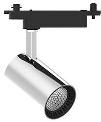 Трековый светильник 12W, 1080 Lm, 4000К, 35 градусов, хром