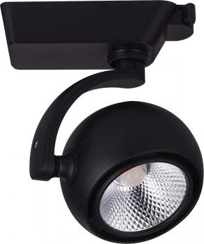 Светильник трековый светодиодный на шинопровод 15W, 1350 Lm, 4000К, 35 градусов, черный