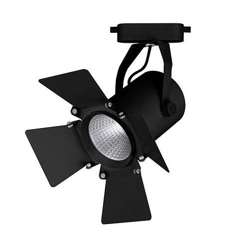 Светильник трековый светодиодный на шинопровод 12W, 1080 Lm, 4000К, 35 градусов, черный