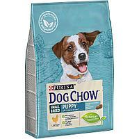Dog Chow Puppy Small Breed, Дог Чау корм для щенков мелких пород с курицей, уп.2,5кг.
