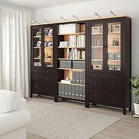 Шкаф ХЕМНЭС черно-коричневый, светло-коричневый 270x197 см ИКЕА, IKEA, фото 1