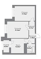 2 комнатная квартира в ЖК ParkAvenueExclusive 66.76 м², фото 1