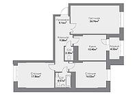 3 комнатная квартира в ЖК ParkAvenueExclusive 100.6 м², фото 1