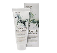 3W Clinic Horse Oil Hand Cream 100 ml - Крем для рук с конским жиром