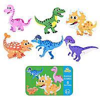 Набор из 6 пазлов в железной банке - Динозавры