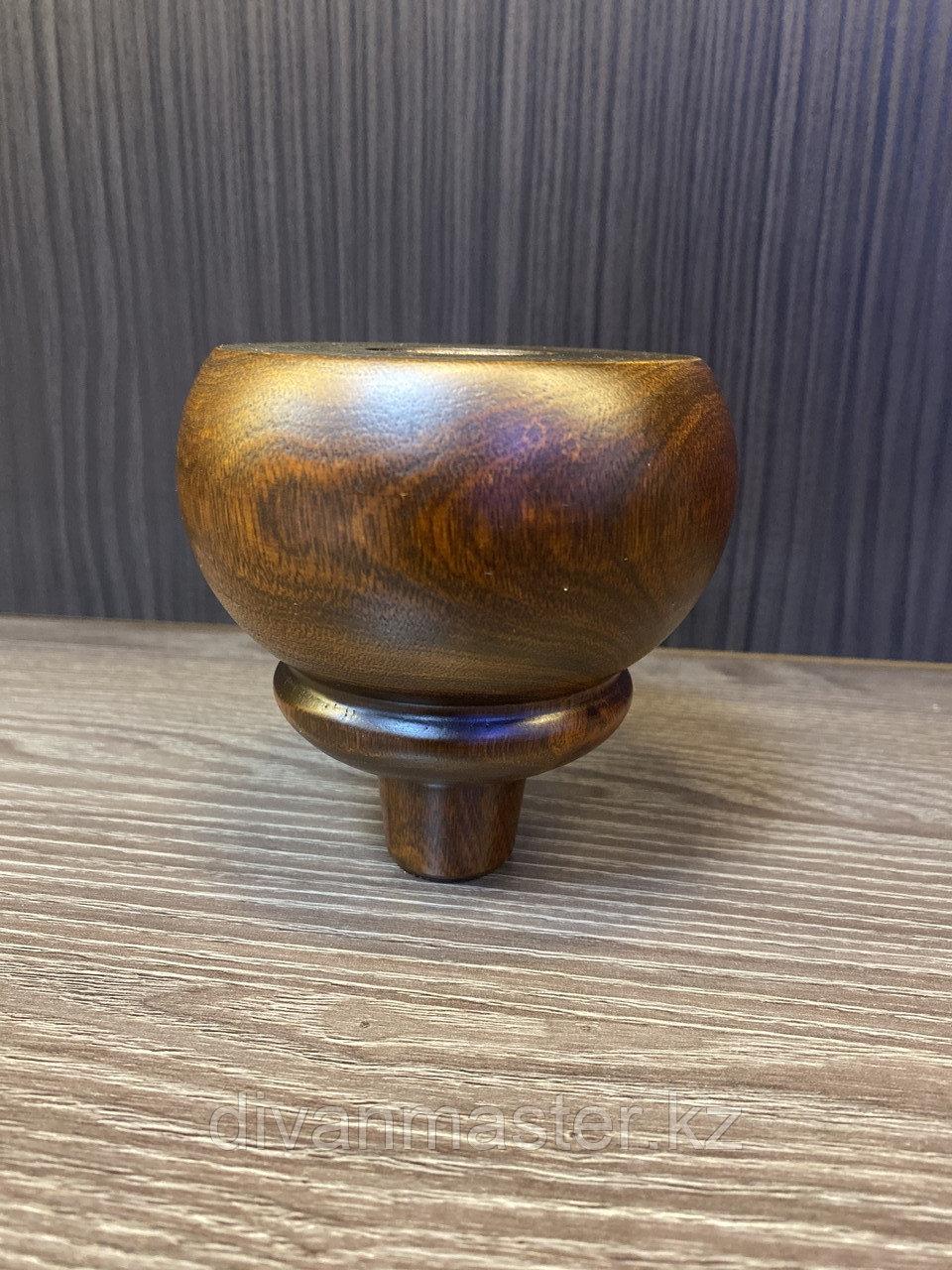 Ножка мебельная, деревянная. 10,5 см, с пластиной
