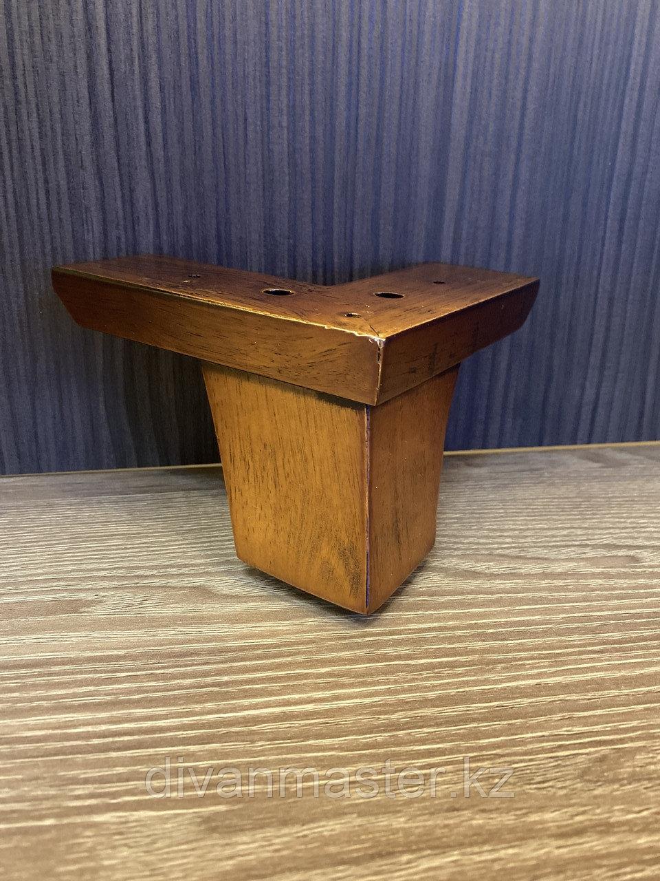 Ножка мебельная, деревянная угловая 13 см