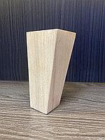 Ножка мебельная, деревянная, пирамида 13 см, бук.