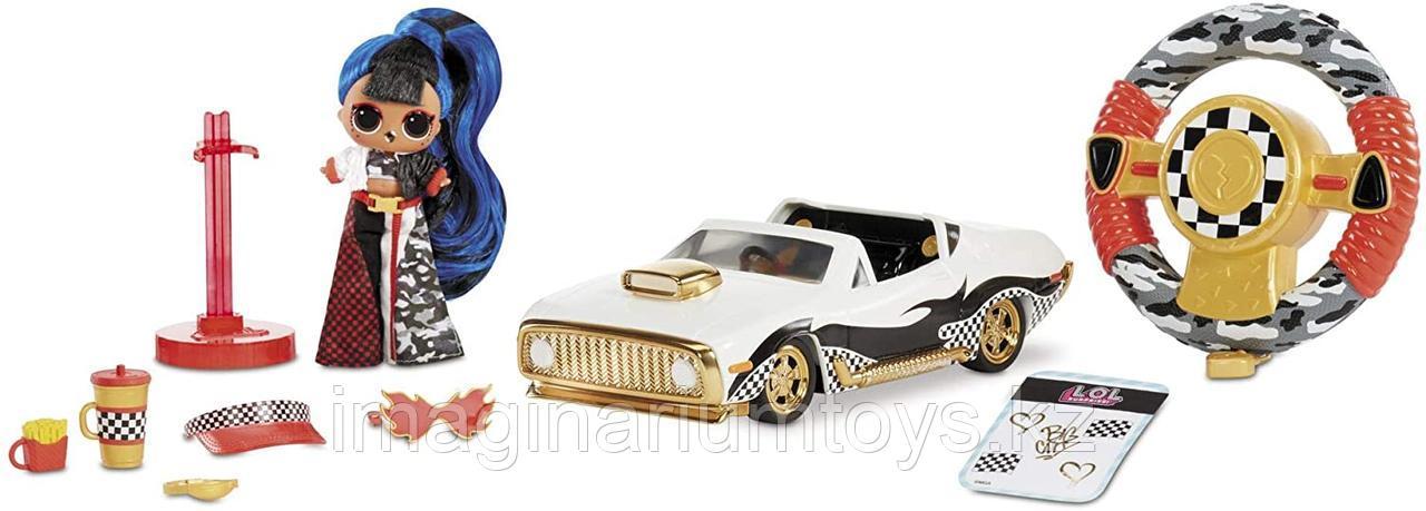 ЛОЛ машина кабриолет на радиоуправлении с куклой LOL JK - фото 1