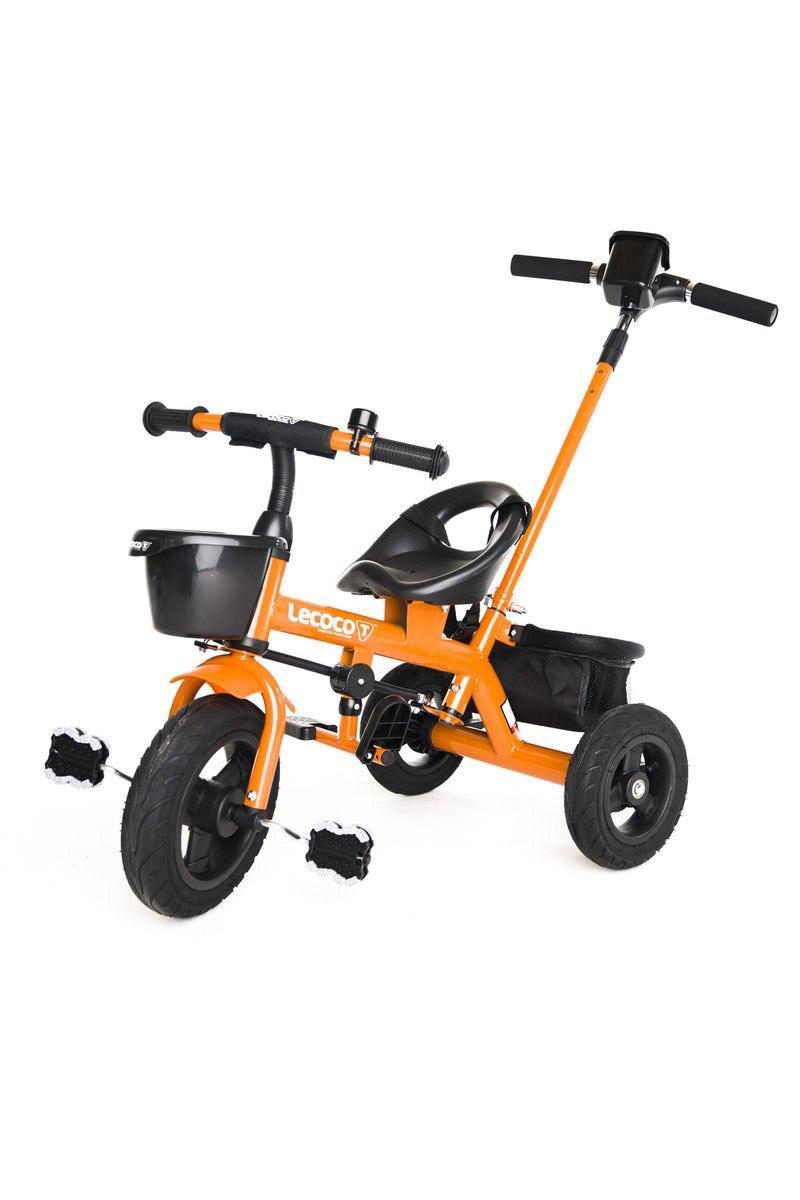 Трёхколёсный велосипед с ручкой NINO T-100 Orange ,,LECOCO Italy''
