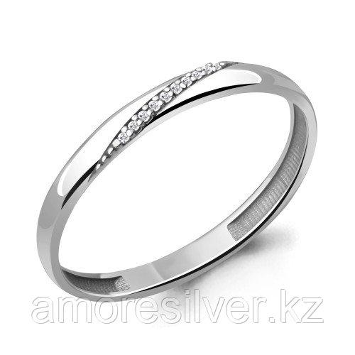 Серебряное кольцо с фианитом   Aquamarine 63497А размеры - 16,5