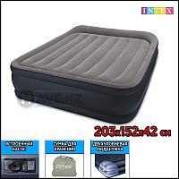 Двухспальная надувная кровать - матрас Intex 64136 - 203х152х42, со встроенным насосом, фото 1